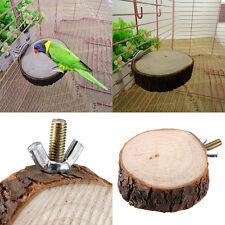 Pet Bird Parrot Chew Toy Wooden Hanging Swing Birdcage Parakeet Cockatiel Cages