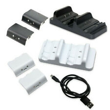 for XBOX ONE Controller Dual Charging Dock Station Charger + 2 Battery Packs New