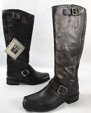 NEW Frye Smith Engineer Tall Leather Riding Boots Charcoal Brown Size 7 B
