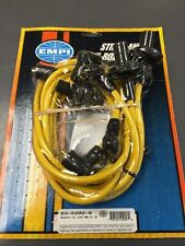 VW bug and Ghia plug wire set 8mm Yellow