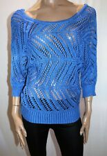 TEMT Brand Royal Blue Knitwear 3/4 Sleeve Pull Over Top Size M BNWT #Ti61