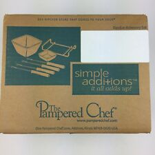 New Pampered Chef Chocolate / Cheese Fondue Accessory Set # 1965 Retired