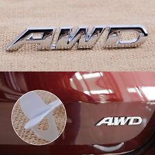 Silber Auto AWD Körper Aufkleber Emblem Plakette Abzeichen Sticker 9x1.2cm