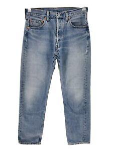 Vintage Levi 'S 501 Bleu Original Standard Jeans Coupe Droite W32 L32