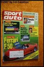 Sport Auto 9/96 Ferrari F50 Lotus V8 Porsche Turbo GT1