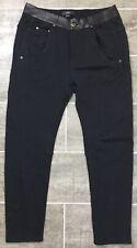 Diesel Fayza-R 0QAIY Pants Size 26 Black Leather Waist Trim Trousers $178 NWT