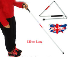 Folding Blind Stick Visually Impaire Guide cane support Walker deafblind Stick