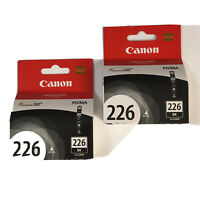 (2) CANON 226 Black Ink Cartridges ~ CLI-226BK