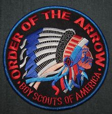Order of the Arrow OA Jacket Patch Back Backpatch Style 1 Black/Red MINT! NOAC