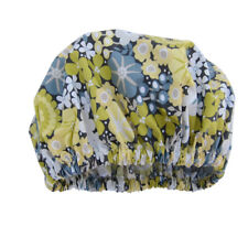 Women's Shower Cap handmade waterproof reusable laminated cotton lemon flowers