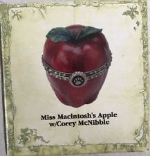 Boyds -Uncle Bean's Treasure Boxes -Miss Macintosh'S Apple W/Corey McNibble -New