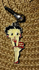 Betty Boop Red Pok a dot short dress cell phone dust plug