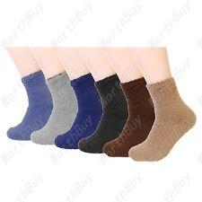 12 Pairs Mens Soft Cozy Fuzzy Winter Warm Multi Color Slipper Socks Size 9-13