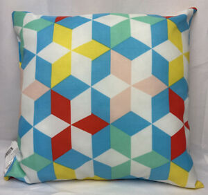 """Target Sun Squad Geometric Outdoor Pillow UV Treated Fade Resistance 16"""" X 16"""""""