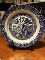"""Royal Cuthbertson Blue Willow 12"""" CHOP PLATE.  NEW"""