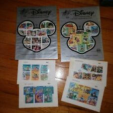 New listing Disney World of Postage Stamps 48 different stamps Set #1 and # 2 New In Pack