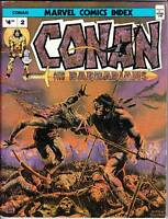 MARVEL COMICS INDEX CONAN AND THE BARBARIANS - 1976 - Tim Conrad cover