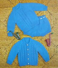 "Vintage Knitting Pattern Baby Boy Cardigan Jumper Sweater Set  DK 19-21""  R13093"