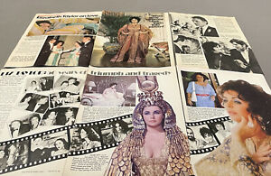 65+ VINTAGE ELIZABETH TAYLOR CLIPPINGS 1970s 1980s And 1999s
