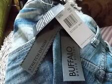 $129 NEW Mens Blue BUFFALO DAVID BITTON Six-X Slim Straight Pants Jeans W46 L32