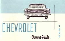 1960 Chevrolet Owners Manual User Guide Reference Operator Book Fuses Fluids OEM