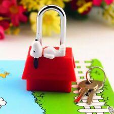 Snoopy Peanuts Solid Brass Padlock Pad Lock+Key Safety