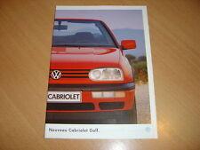 CATALOGUE VW Golf Cabriolet de 1994
