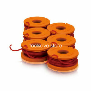 6-Pack WORX WA0004 Replacement Grass Trimmer Spool & Line for Worx WG169E