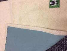 REVERSIBLE WOOLABY LAMBS WOOL LARGE BLANKET 92X95CM EX DISPLAY