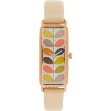 ORLA KIELY Women's Cream/Multi Stem Quartz Slim Watch, Boxed