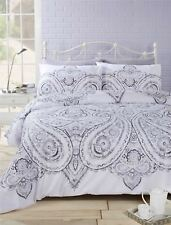 motifs cachemire floral gris mélange de coton Réversible