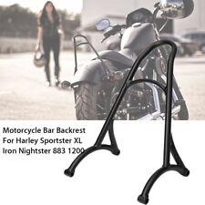 Burly Sissy Bar Backrest Fit Harley Sportster XL Iron 883 1200 2004-2016 Black