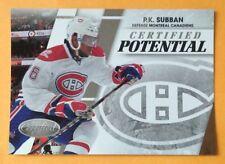 P K Subban 2010-11 Panini Certified Potential Promo Montreal Canadiens