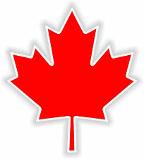 Maple Leaf Feuille Erable Sticker Logo for Helmet Hard Hat Locker Bumper Canada