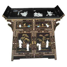 MOTHER OF PEARL ORIENTAL FURNITURE - BLACK ALTER CABINET