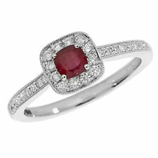 Cushion Ruby Fine Diamond Rings