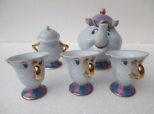 Hot Beauty And The Beast Teapot Cartoon Mug Mrs Potts Chip 1Teapot+3 Gup+1  bowl