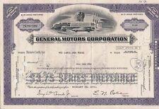 Stock certificate General Motors Corp. Delaware 1973 10 shares