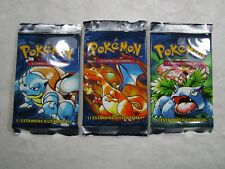 Lot of 3 *WEIGHED* Pokemon Base 1st Edition PORTUGUESE Sealed Booster Pack Cards