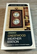 New listing Vintage Springfield Crestwood Weather Station Thermometer Barometer Humidity