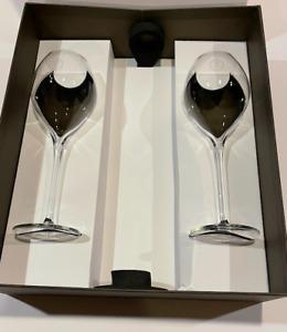 LOUIS ROEDERER NEW Cristal Champagne Lehmann Crystal Balloon Flutes Rare x 2 Box