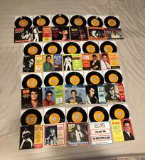ELVIS PRESLEY 45 RECORD LOT (21) ~ Original Orange Labels + Picture Sleeves