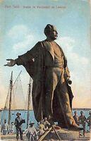 B95309 port said statue  de ferdinand de lesseps  egypt africa