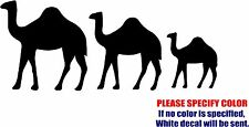 Vinyl Decal Sticker - Camel Family Zoo Car Truck Bumper Window Boat JDM Fun 7""