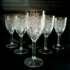 6 Grapevine Clear Hard Plastic 10oz Wine Glasses Goblets Poolside Party Taiwan