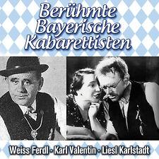 CD Gracious, Karl Valentine's and Liesl Karlstadt Bavarian kabarettisten 2CDs