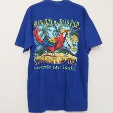 Margaritaville Jimmy Buffett Medium Blew Out My Flip Flop Parrot Jamaica T Shirt