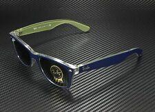 RAY BAN RB2132 6188 New Wayfarer Matte Blue Military Green 55 mm Sunglasses
