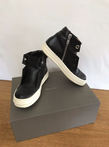 Rick Owens Scarpe In Pelle Island Dunk Leather Hi-Top Sneakers Shoes Size 38 8