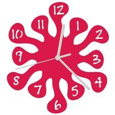 Euphyllia-Splash Mini Childrens Wall Clock 20cm Fuchsia Pink (e9557fus)